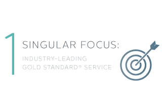 1 Singular Focus: Industry-Leading Gold Standard® Service